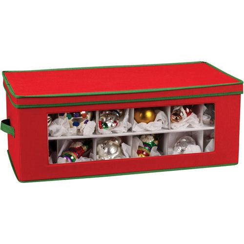 Keep your holiday ornaments safely stored away until next season using the Vision Holiday Ornament Storage Box in the large size.