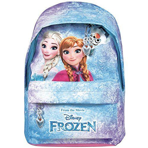 Sac à dos Fille Disney Frozen La Reine des neiges- Cartable scolaire avec poche avant Anna et Elsa – Sac d'école pour Enfants – 29x20x8cm –…