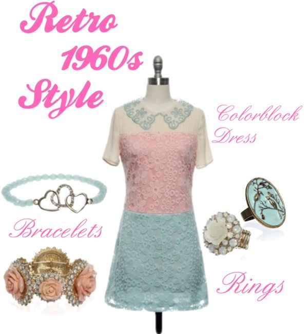 """Retro 1960s Style"" by laceaffair on Polyvore"