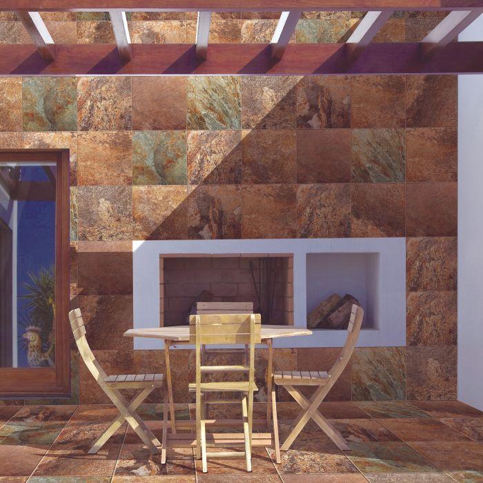 Piso para exterior Laredo multicolor. ¡No te limites y úsalo también en muros!