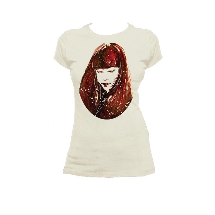 Red Soul - T Shirt  Woman's T shirt super soft boyfriend tee. 100% cotton and jersey. The design on the shirt was hand-painted with watercolor and then printed direclty on fabric.