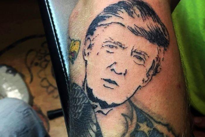 Trump Tattoo Done Free by A Tattoo Artist