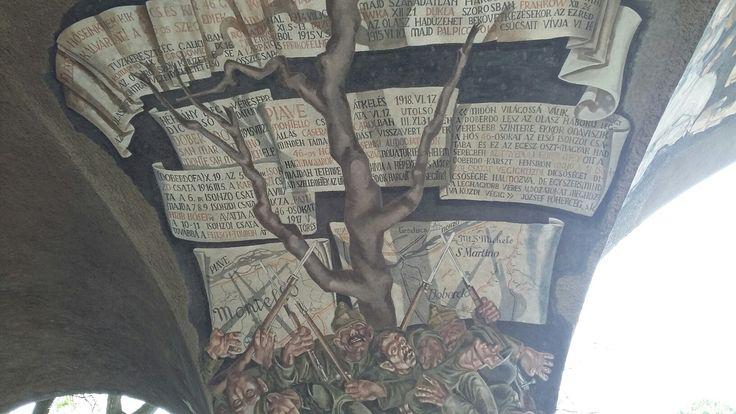 Szeged, Hősök kapuja, Doberdói fa, Aba Novák Vilmos