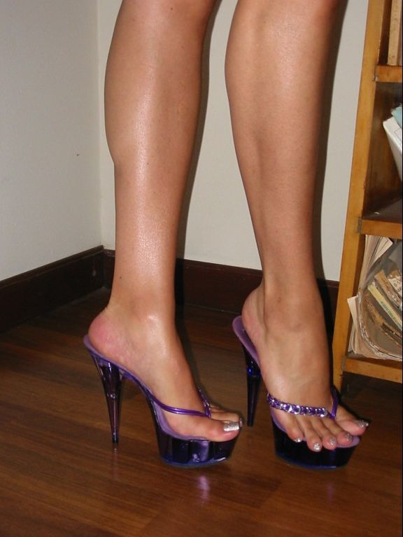 Luciana S Purple Thong Platforms Shoe Shoe In 2019