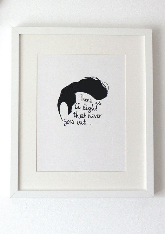 Morrissey The Smiths A4 Illustration Print There is by lloydloves