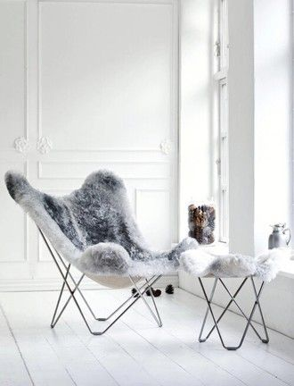home accessory chair faux fur cozy lazy day grey hipster home furniture our favorite home decor 2015