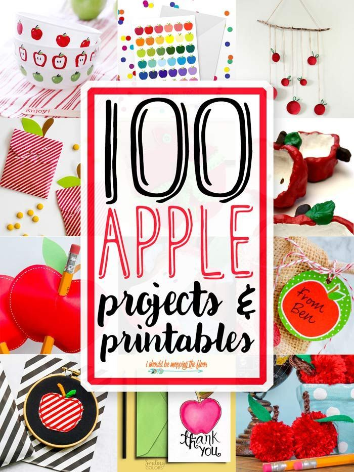 100 Apple Craft Ideas and Printables | Autumn | Apple back