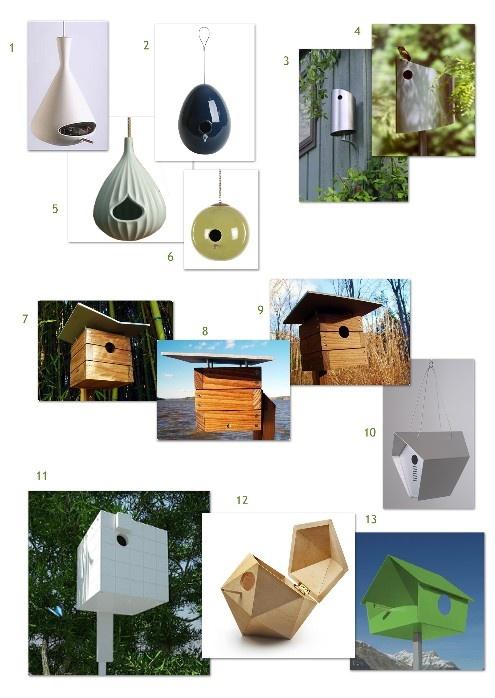 Modern Birdhouses - blog post with links