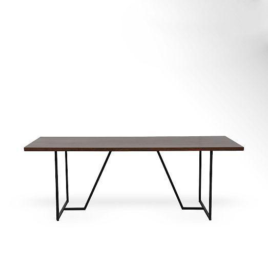 Geometric Base Dining Table | West Elm