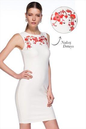 Milla by trendyol - Bohem Şıklığı - Çiçek Nakışlı Elbise MLWSS142387 %63 indirimle 59,99TL ile Trendyol da