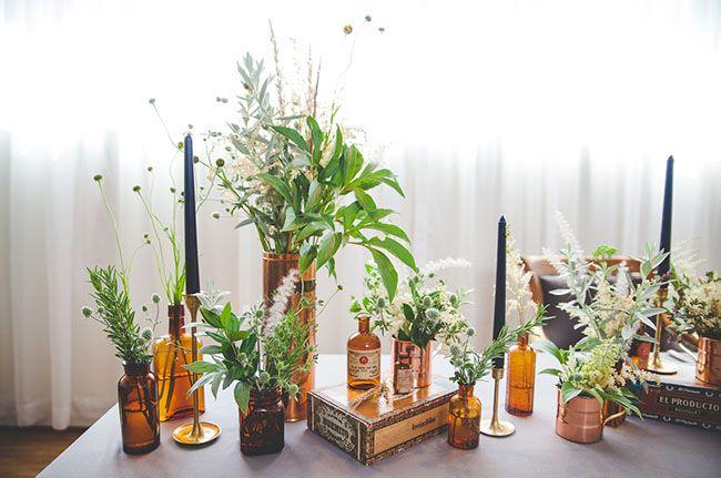 + DECOR // vintage bottle bud vases
