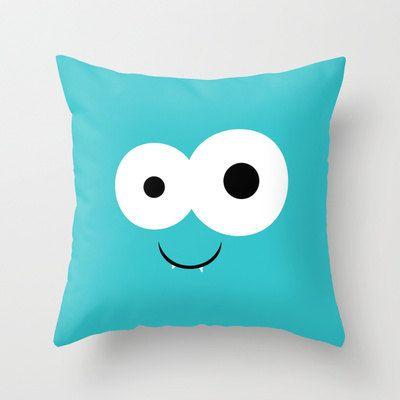 Monstruo azul cubierta de la almohadilla de por ShelleysCrochetOle