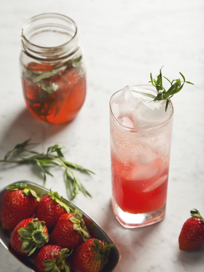 Amanda's strawberry tarragon shrub would make a great cocktail mixer ...