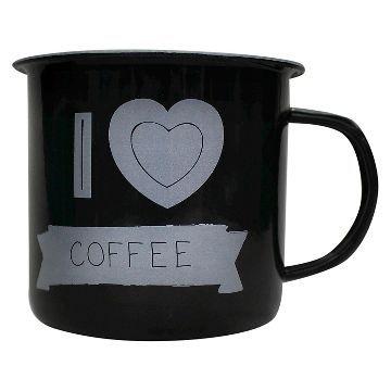 Enamel Mug I 'Heart' Coffee