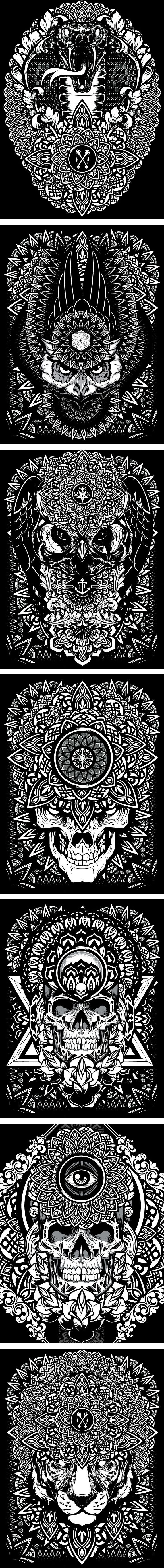 Mandala Exploration by Joshua M. Smith, via Behance