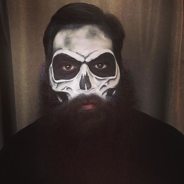 Skull Makeup, Skeleton Makeup, Skull, Beard, Beard Costume, Halloween Skull, Halloween Makeup, Scary Makeup, Costume Makeup, Skull Costume, Skeleton Costume, Amanda Rae Beauty