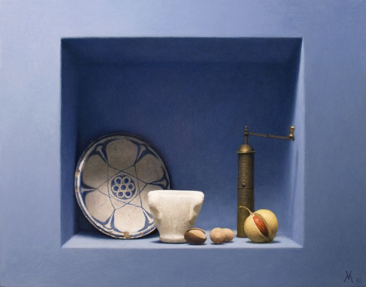 Guillermo Vera, Nutmeg (Nuez moscada), 2012, oil on canvas mounted on panel, 24 x 31 1/2 inches