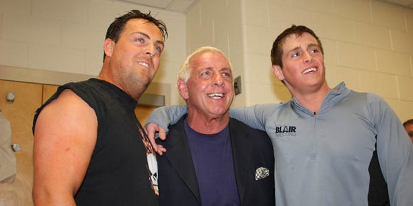 Ric Flair With His Sons. R.I.P. Reid Flair.