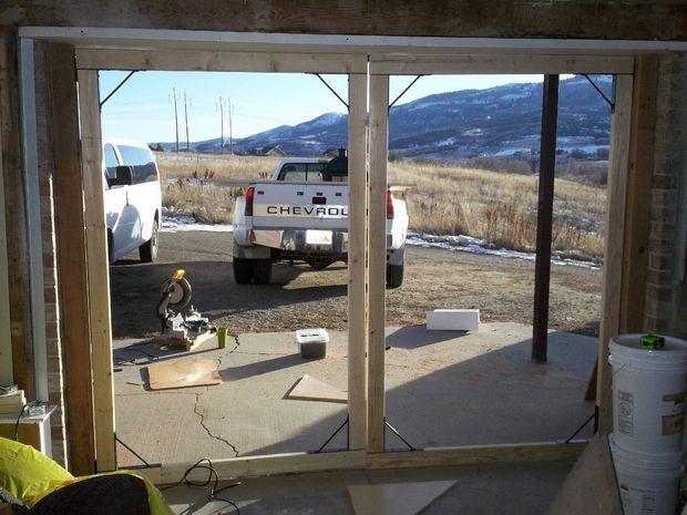 Homemade carriage house garage doors for Carriage door plans