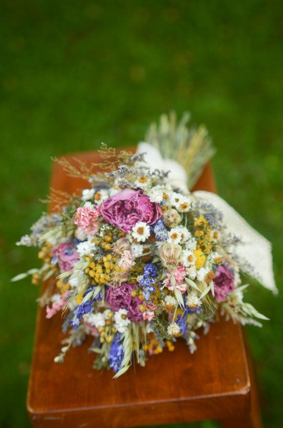 Summer Wildflowers Bridal Bouquet Peony  U2026 In 2020