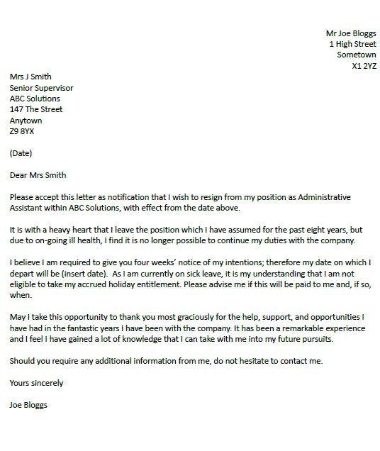 25+ melhores ideias de Two week notice letter no Pinterest Carta - letter of resignation examples