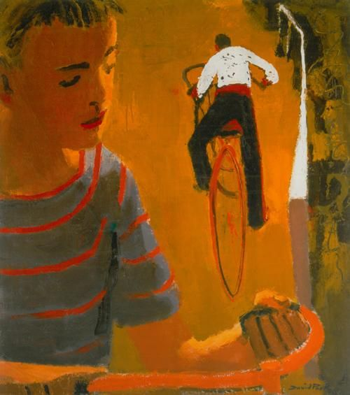 """Kids on Bikes"" David Park, San Francisco Figurative Artist. Paintings bridged abstract expressionism and realism."