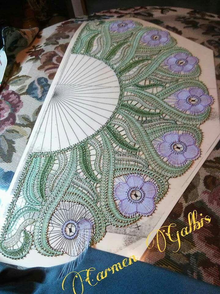 Bobbin lace …