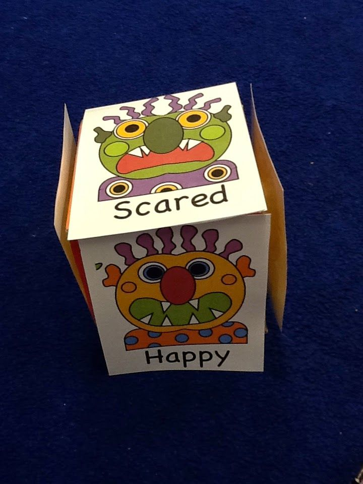 Based on the book, Glad Monster, Sad Monster, two different activities to encourage emotional coaching and labeling. Includes a graphing activity and a labeling/song activity with a dice.