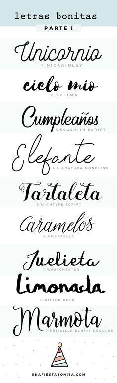 primera comunion tipos de letras