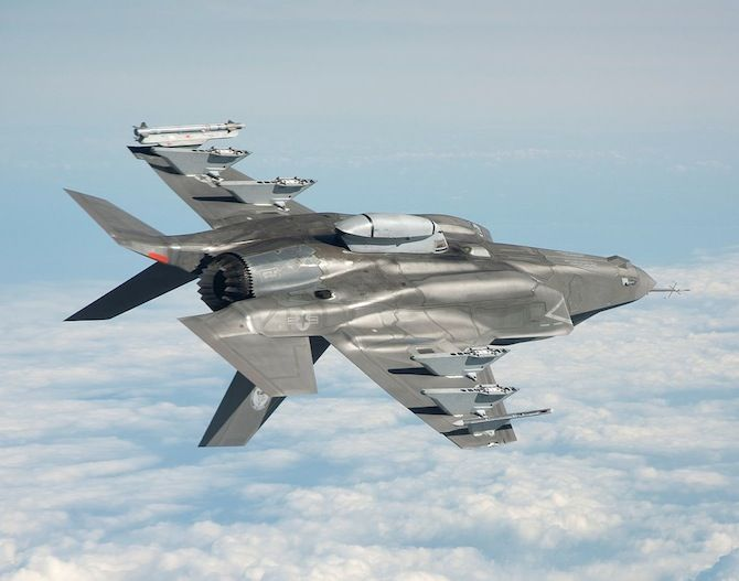 F-35 jet in flight - Lockheed Martin's F-35 Joint Strike Fighter