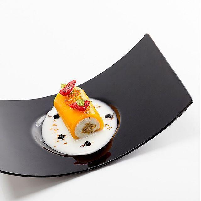 Mango, vanilla, carrot cake, yogurt, balsamic by Dinara Kasko Kharkov, Ukraine