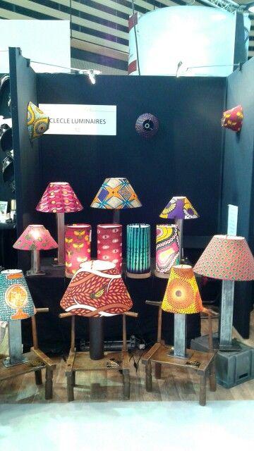 """Lampe de la collection """"METAWAX"""", CleCle Luminaires. Foire Internationale de Lyon."""