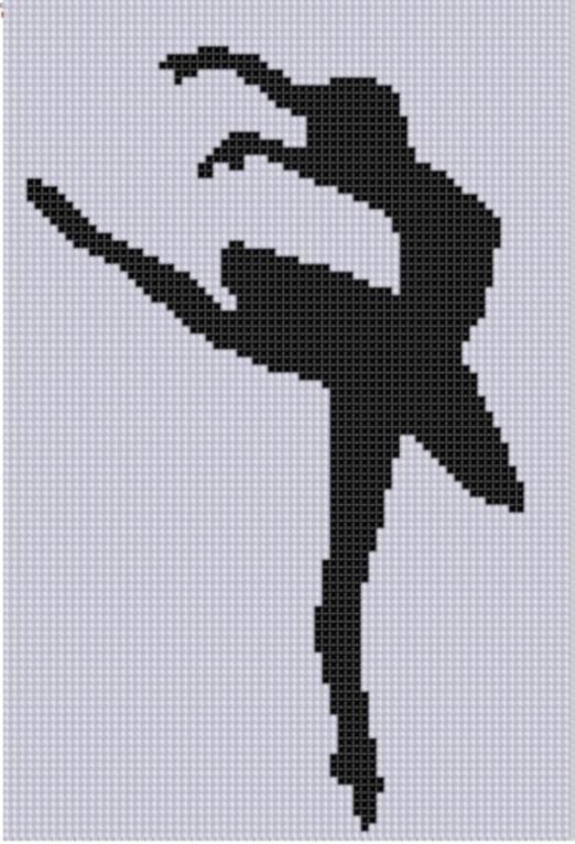 Ballerina Leap Cross Stitch Pattern
