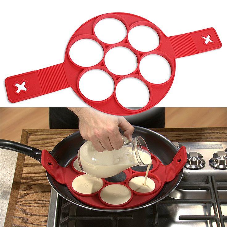 Fantastis Non Tongkat Flippin Flippin' Fantastis Antilengket Pancake Pembuat Telur Cincin Dapur Pembuat 2017