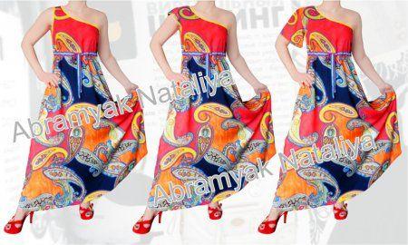36$ Штапельный сарафан и платье свободного покроя для полных девушек с открытым плечом, со стяжкой и без стяжки под грудью, с рукавом Артикул 779,р50-64