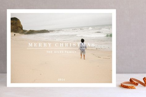 Clean, Simple & Modern Holiday Photo Cards by Anthony Carillo at minted.com