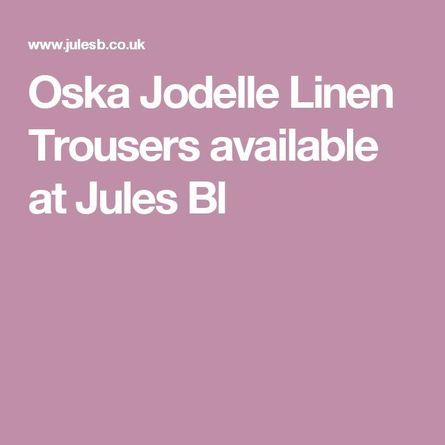 Oska Jodelle Linen Trousers available at Jules Bl