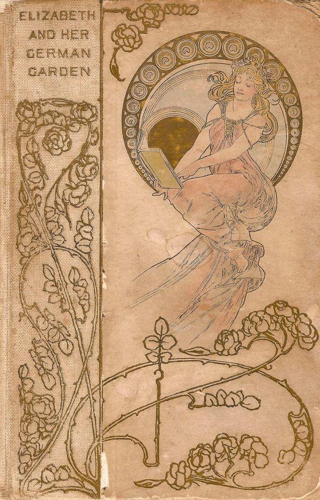 """english-idylls: """" Elizabeth and her German Garden by Elizabeth von Arnim, cover…"""
