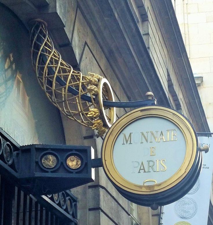 Enseigne de la monnaie de Paris - 6ème Ardt Paris