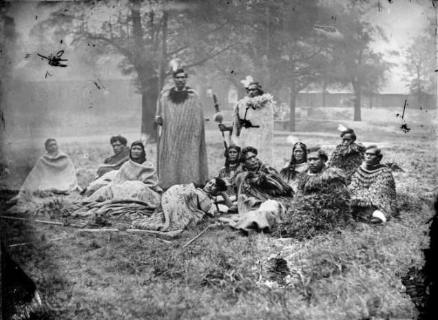 The group of Maori who visited England in 1863