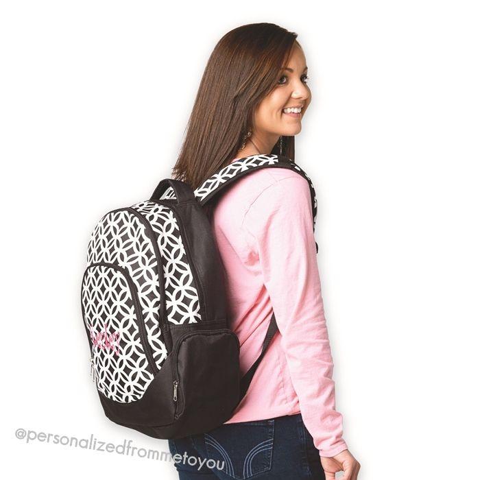 Monogrammed Backpack Black Sadie on sale $26.60 {reg. $38}