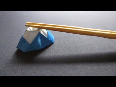 [祝☆世界遺産] 折り紙で箸置き~富士山~[Tutorial ORIGAMI] Mt. Fuji UNESCO World Heritage - YouTube