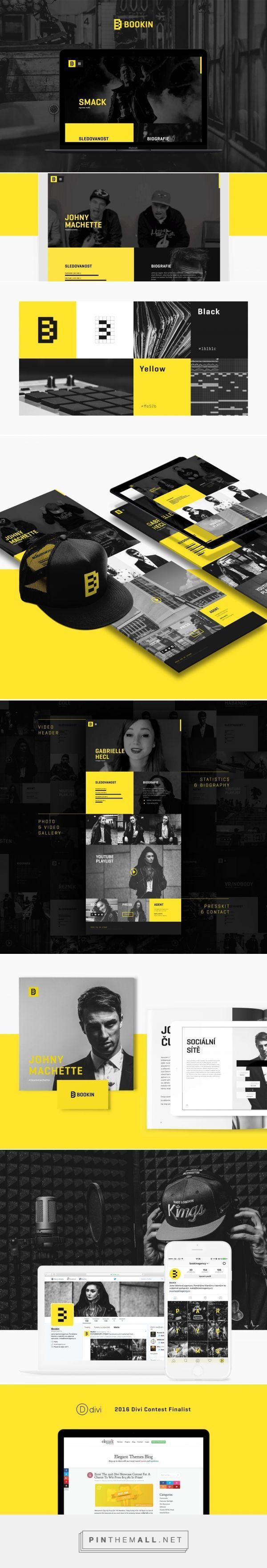 Bookin Agency Web Design by Robin Remsa | Fivestar Branding Agency – Design and Branding Agency & Curated Inspiration Gallery