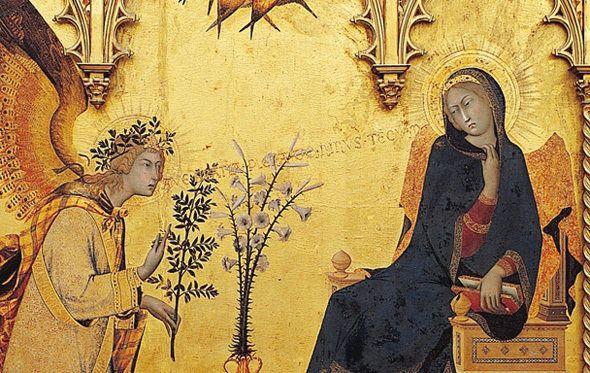 Simone Martini, Annonciation (13ème siècle)
