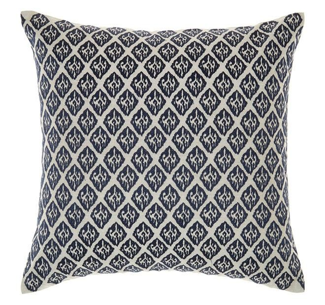 Artois 45x45cm Filled Cushion Indigo | Manchester Warehouse