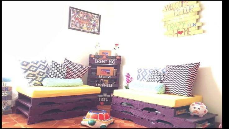 COMO HACER UNA SALA CON PALETS/ HOW TO MAKE YOUR OWN FURNITURE WITH PALLETS