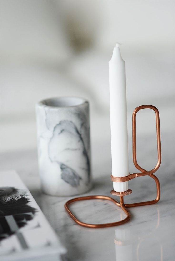Lup Square candleholder by Hay. Photo by Rebecca Centrén.