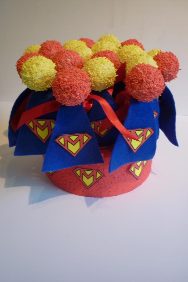 Superhero cake pops! Www.betty-bakes.co.uk