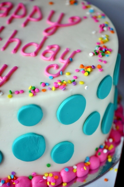the most fun (homemade) birthday cake ever.