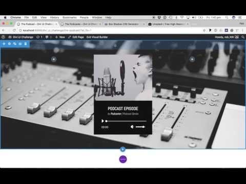 Divi UI Challenge #8 - Podcast Audio Module